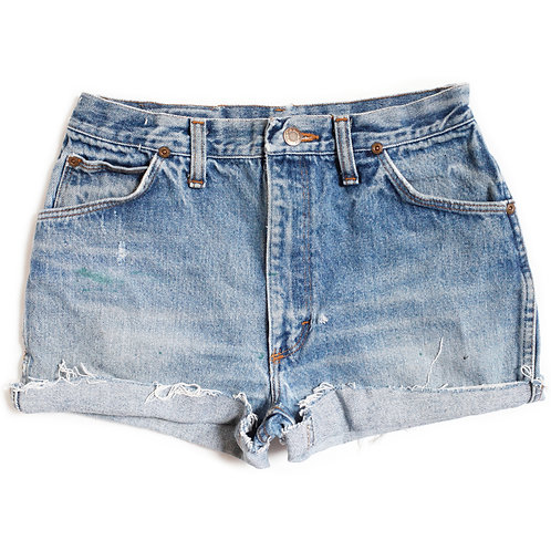 Vintage Wrangler High Rise Distressed Cut Offs - 26