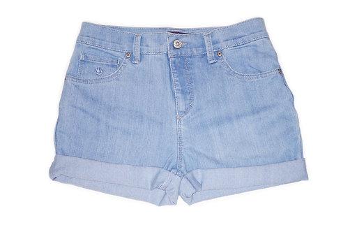 Vintage Light Wash Mid-High Rise Cuffed Shorts - Sz 28/29