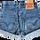 Thumbnail: Vintage Levi's Medium Blue Wash High Rise Cuffed Shorts - Sz 24