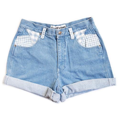 Vintage Gingham High Rise Shorts - 27/28