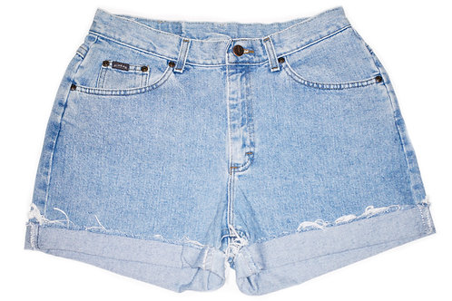 Vintage Lee Light/Medium Wash High Rise Cuffed Shorts - Sz 30/31
