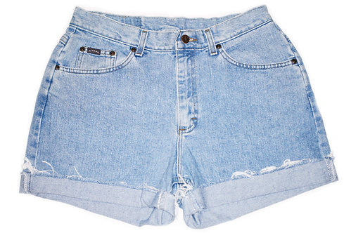 Vintage Lee Light/Medium Wash High Rise Cuffed Shorts - Sz 30/31