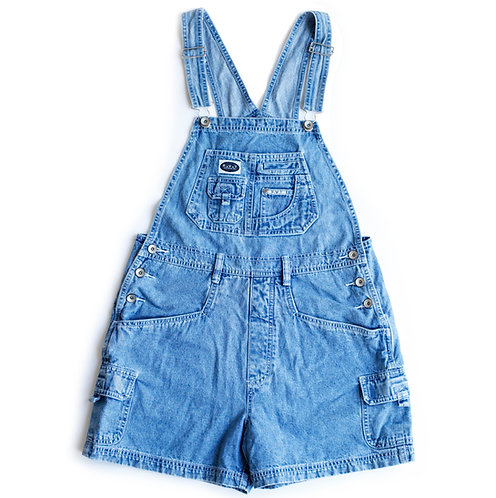 Vintage 90s R.V.T. Denim Shortalls - M