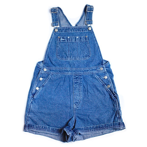 Vintage 90s GAP Blue Denim Shortalls - S/M
