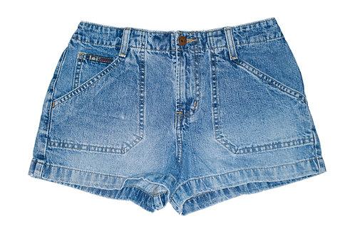 Vintage l.e.i. Medium Blue Wash Mid-High Rise Denim Shorts - Sz 25/26