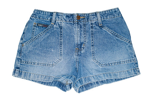 Vintage l.e.i. Medium Blue Wash Mid-High Rise Denim Shorts - Sz 25/26
