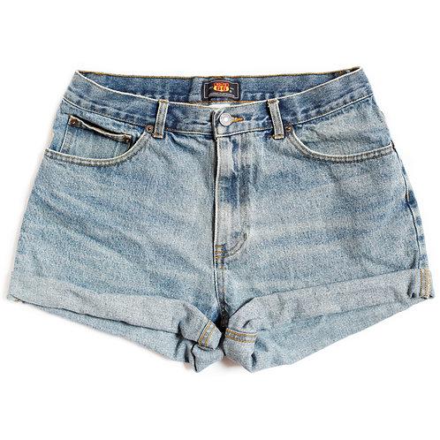 Vintage Route 66 Medium Wash High Rise Shorts - 31/32