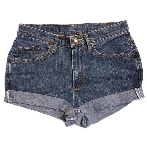 Vintage Lee Dark Wash High Rise Cuffed Shorts - 29