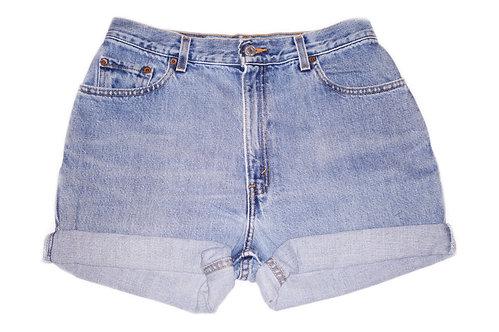 Vintage Levi's Light/Medium Wash High Rise Cuffed Shorts - Sz 29