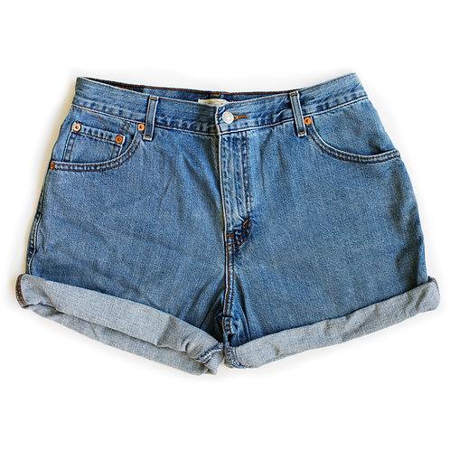 Vintage Levi's Light Wash High Rise Cuffed Denim Shorts - 31