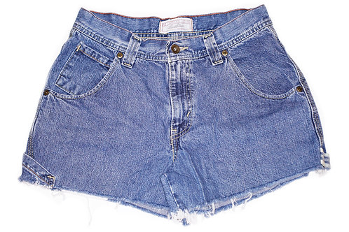 Vintage Levi's Medium/Dark Wash Mid-High Rise Cut Offs Shorts - Sz 26