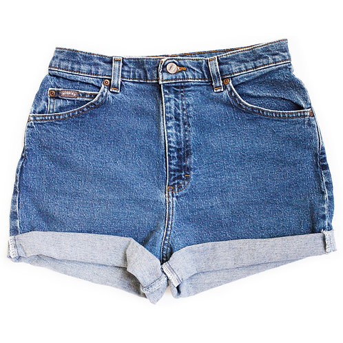 Vintage Lee Medium Wash High Rise Denim Shorts - 30