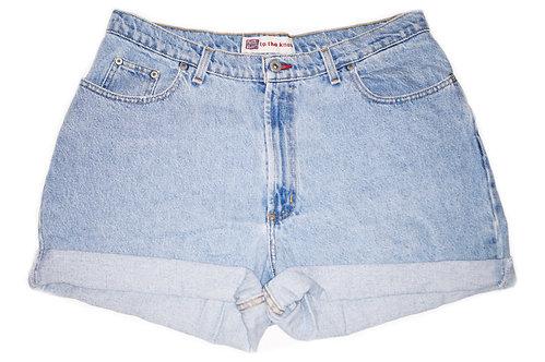 Vintage Light/Medium Wash High Rise Cuffed Shorts - Sz 36