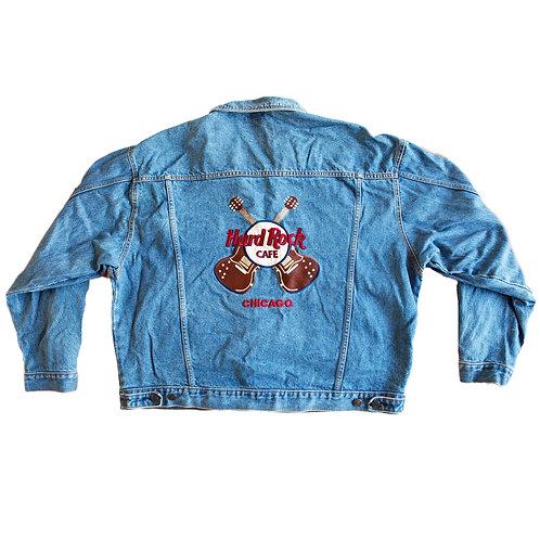 Vintage 90s Hard Rock Cafe Chicago Denim Jacket