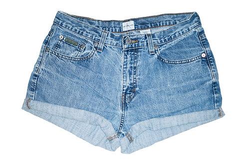 Vintage Calvin Klein Light/Medium Wash Mid-High Rise Cuffed Shorts - Sz 28