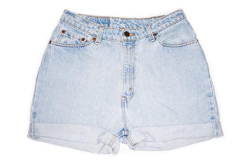 Vintage Levi's Light Wash High Rise Cuffed Shorts - Sz 30/31