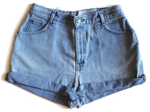 Vintage Stone Wash High Rise Denim Shorts - 30/31
