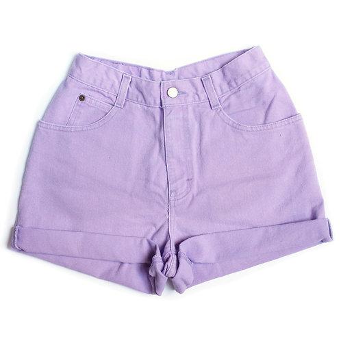Vintage Lilac High Rise Cuffed Shorts - 24