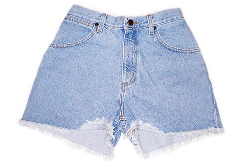 Vintage Light Wash High Rise Cut Offs Shorts - Sz 24/25