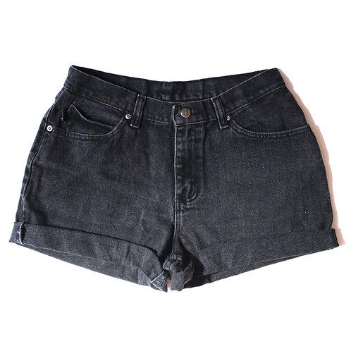 Vintage Chic Black High  Rise Cuffed Shorts - 27/28