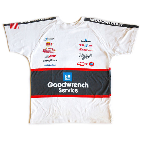Vintage 90s Goodwrench Dale Earnhardt #3 Nascar Racing Double Sided Graphic Tee / T-Shirt - XL