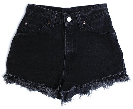 Vintage Levi's Black High Rise Cut Off Denim Shorts - 22/23