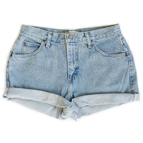 Vintage Riders By Lee Light Wash High Rise Denim Cuffed Shorts - 30