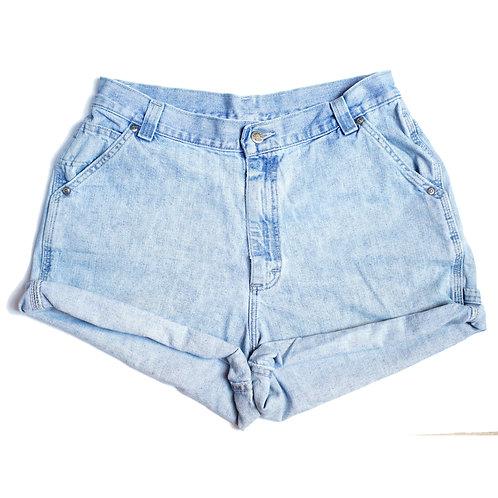 Vintage Lee Light Wash High Rise Cuffed Shorts - 32/33