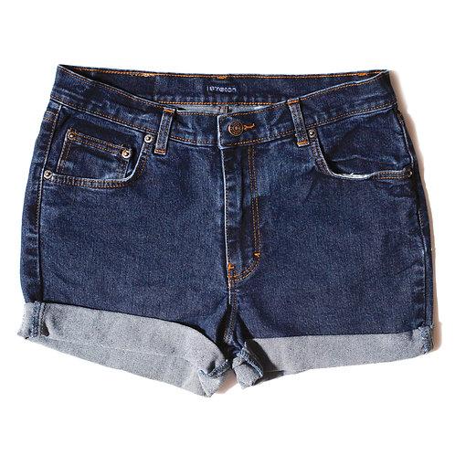 Vintage Jordache Dark Wash High Rise Cuffed Shorts - 30
