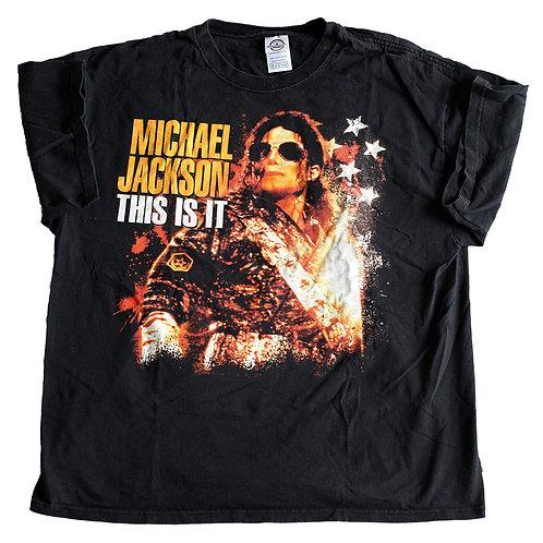 2009 Michael Jackson's This Is It Promo Graphic Black T-Shirt - XL