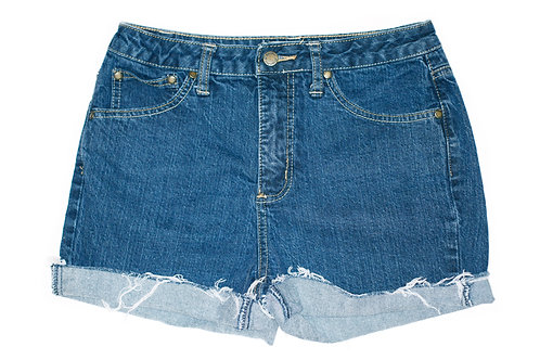 Vintage St. John's Bay Dark Wash High Rise Cut Off Cuffed Shorts - Sz 26/27