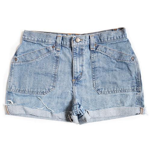 Vintage Faded Glory Light Wash High Rise Denim Shorts - 30