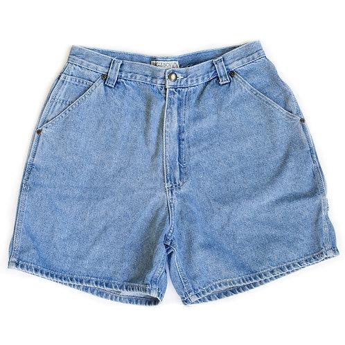 Vintage Bugle Boy Light Wash High Rise Denim Shorts - 3