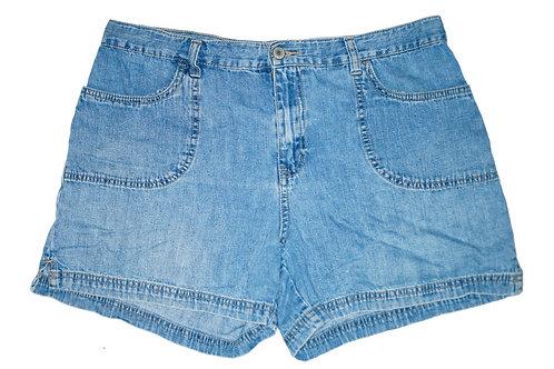 Vintage Medium Blue Wash High Rise Shorts - Sz 32