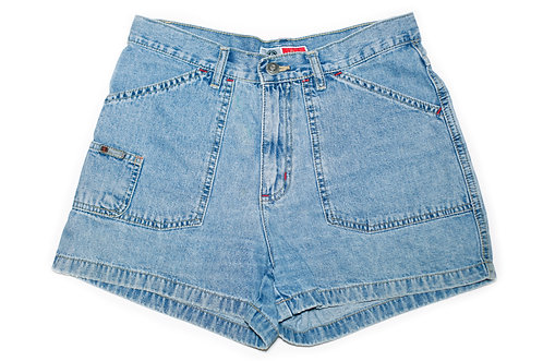 Vintage Arizona High Rise Denim Carpenter Shorts - Front