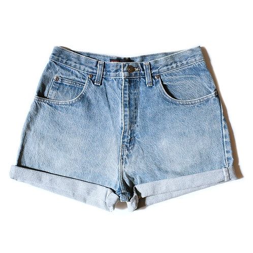 Vintage Faded Glory Light Wash High Rise Cuffed Shorts - 29