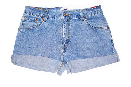 Vintage Levi's Light/Medium Wash Mid-High Rise Cut Offs Cuffed Shorts - Sz 29/30