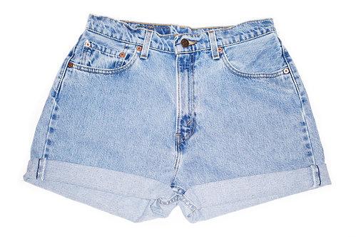 Vintage Levi's Light/Medium Wash High Rise Cuffed Shorts - Sz 30