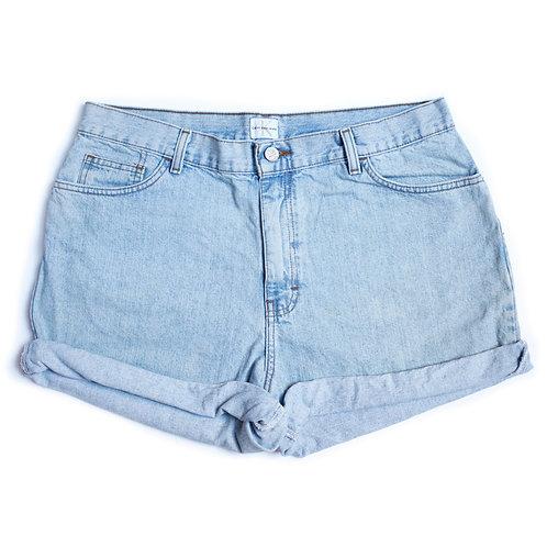 Vintage Calvin Klein Light Wash Cuffed Shorts - 34/35