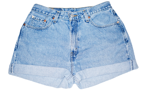 Vintage Levi's Light/Medium Wash High Rise Cut Offs Cuffed Shorts - Sz 29/30