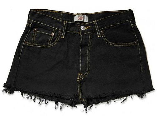 Vintage Levi's Black High Waisted Cut Off Shorts - 27