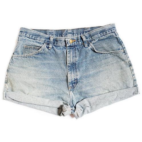 Vintage Wrangler High Rise Denim Cuffed Shorts - 33/34
