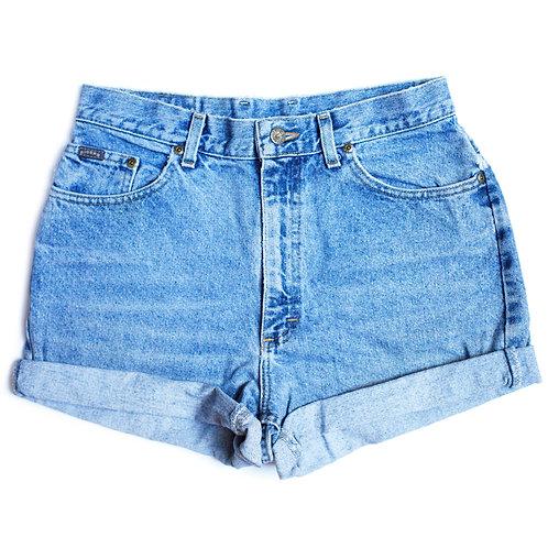 Vintage Lee Light Wash Cuffed Shorts - 30