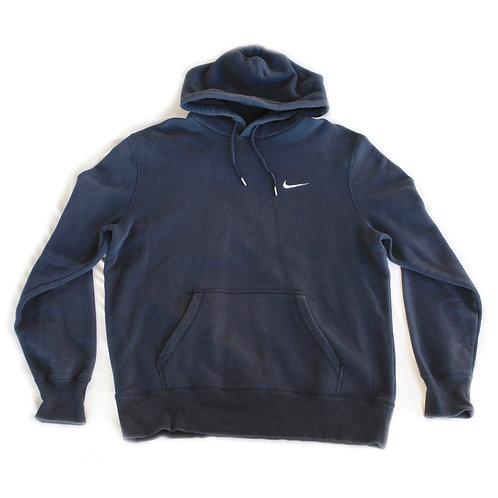 Nike Swoosh Embroidered Black Pullover Hoodie Sweatshirt - Large