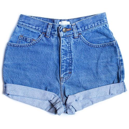 Vintage Medium Wash High Rise Cuffed Shorts - 24