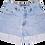 Thumbnail: Vintage Express Light Blue Wash High Rise Factory Cuffed Shorts - Sz 27/28