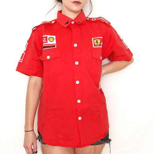 Vintage 1996 Ferrari Racing Pit Crew Button Up - M