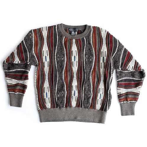 Vintage 100% Wool Baracuta Tundra Coogi-esque Sweater - S/M