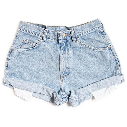 Vintage Wrangler Light Wash High Rise Denim Shorts - 28