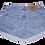 Vintage Calvin Klein Medium Wash High Rise Cuffed Denim Shorts - Back